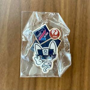 JAL 東京オリンピック記念ピンバッジ ピンバッチ ピンズ TOKYO2020 東京五輪 日本航空 ミライトワ