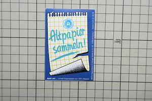 5211 【即決・定額・同梱包可能】 ◆ ALTPAPIER - 紙のリサイクル - ドイツ ◆ 自然 保護 環境☆ ヴィンテージ ステッカー ☆ ◆