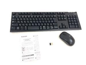ELECOM エレコム ワイヤレス キーボード マウスコンボモデル TK-FDM063BK