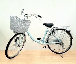 ☆直接引取歓迎☆ BRIDGESTONE 自転車 点灯虫 街乗り 買い物 通勤 通学 24インチ E40UT1 エブリッジU ブルー