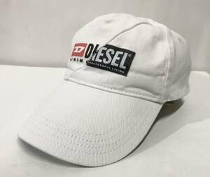 DIESEL ディーゼル 新旧ロゴコンビ スナップバックキャップ 白 ベースボール 帽子