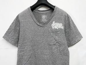 送料無料 STANDARD CALIFORNIA スタンダードカリフォルニア 霜降り ポケット Tシャツ S グレー