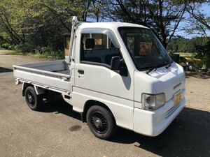"""used light truck SUBARU samba 4WD power steering air conditioner low running vehicle inspection """"shaken"""" equipped cheap Niigata departure selling out"""