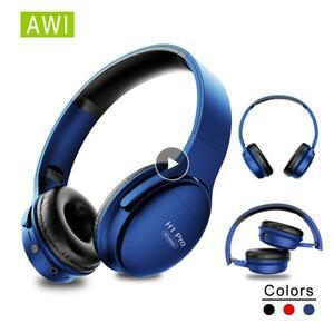 ◇特価 bluetooth5.0 ヘッドセット ブルー/青 ヘッドホン 大容量バッテリー 高音質 会話 マイク内蔵 PC/タブレット
