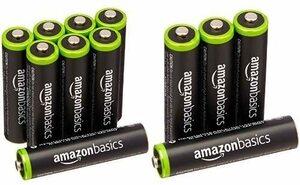 ベーシック 充電池 充電式ニッケル水素電池 単4形8個セット (最小容量800mAh、約1000回使用可能) &am