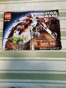 即決 送料無料 レア LEGO レゴ レゴスターウォーズ STAR WARS REPUBLIC GUNSHIP 7163 説明書