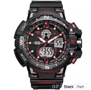 ☆新品☆ Smael ウォッチ 腕時計 メンズ デジタルスポーツ 防水時計 電子 軍事腕時計 男性 ledデジタルA