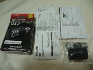 TASCAM iM2 ステレオコンデンサーマイク iPhone/iPad/iPod用 高音質