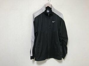 本物ナイキNIKEジャージロゴ刺繍トラックジャケット旅行トラベルメンズL黒ブラックジムスポーツウェアゴルフ