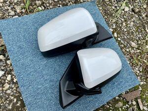 * Mitsubishi Lancer Evolution X|CZ4A MITSUBISHI original door mirror W13 white pearl beautiful goods * last price cut