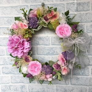 георгина . роза. цветок lease * лиловый розовый 30cm