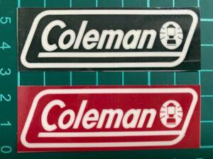 コールマン ・ステッカプラックレッド2枚セット ラミネートUV加工済、耐光性もあります!