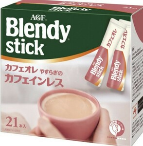 AGF ●ブレンディスティックカフェオレ●  やすらぎのカフェインレス 21本+5本