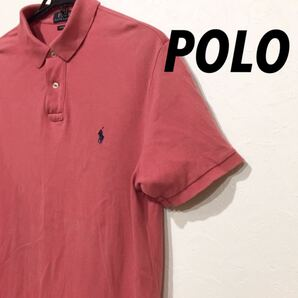 Polo ポロシャツ 濃いめピンク 半袖 古着 美品 Lサイズ