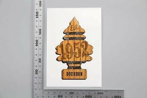 ★US直輸入 正規品 リトルツリー デカール ステッカー Little Trees Bourbon Decal Overlay USDM 世田谷ベース S3269 ▽
