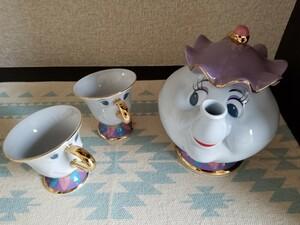美女と野獣のポット夫人とチップ☆ 東京ディズニーランド コレクション ティーカップ ディズニー Disney ティーポット