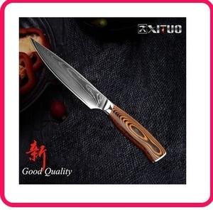 高級包丁 XITUO 海外ブランド ペティナイフ ダマスカス鋼 67層 VG10 V金10号 5インチ 果物ナイフ dhn
