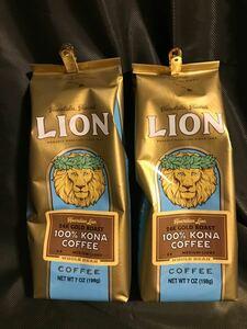 世界的なコーヒー豆値上がり LION COFFEEライオンコーヒー ハワイコナコーヒー100% 198g2袋