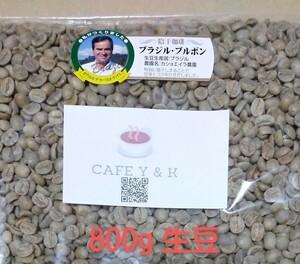 コーヒー豆 ブラジル ブルボン カショエイラ農園 Qグレード800g 焙煎用生豆
