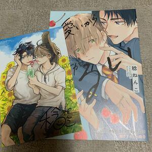 BL 可愛いから君がわるい 稔ねんこ とらのあなBLコミックフェア小冊子&リキューレ夏恋フェアイラストカード