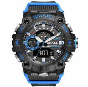 ◆ ミリタリー ウォッチ メンズ スポーツ 防水 腕時計 ストップウォッチ アラーム ledライト デジタル腕時計 メンズスポーツ時計 1740