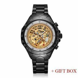 腕時計 男性向け SEWORスケルトン 自動機械式時計 レロジオ Masculino 5 WITH BOX