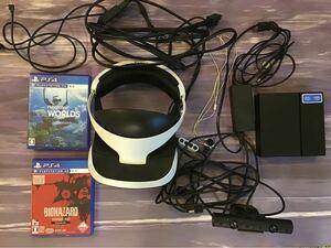PlayStation vr 初期型ps5用アダプター バイオ7,VRワールド付 PSVR