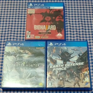 PS4 ソフト3本セット!