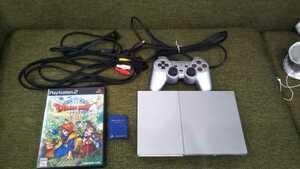 【動作確認済み】PS2 本体 プレイステーション2 ソフト ドラゴンクエストⅧ 8 SCPH-90000 シルバー コントローラー メモリーカード SONY