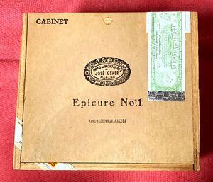 Hoyo De Monterrey Cigars Epicure No.1 シガー ボックス 木箱 CUBA HABANOS ハバナ キューバ 葉巻 シガーケース