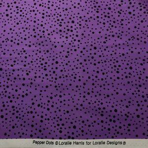 ロラライハリス Pepper Dots パープル生地