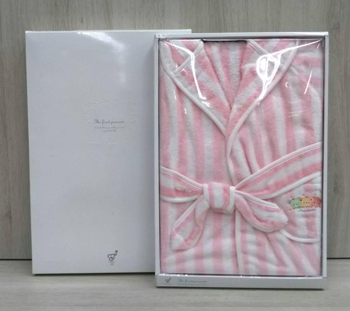 【未使用品】赤ちゃんの城 バスローブ パステルベア ピンク 90㎝ 出産祝い 日本製 ベビー バスローブ 90cm 今治タオル 沐浴 お風呂