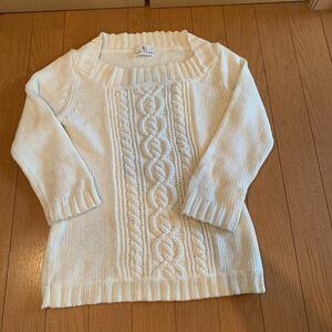 Kumikyoku 組曲 ウール 七分袖 綿 サマーセーター 2 ホワイト 3点以上落札 割引あり