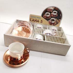 Tender Moon テンダームーン カップ&ソーサー 5客セット 純銅製 コーヒー 未使用品#8115