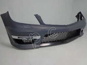 ● ベンツ W204 C180 C200 C250 C350 → C63 AMG 後期 フェイス チェンジ フロント バンパー スポイラー グリル デイ ライト LED フォグ