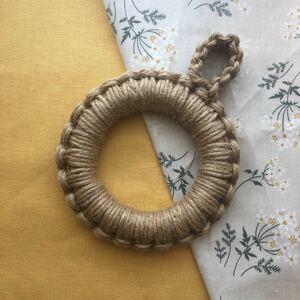 ジュート鍋敷き 麻 マクラメ編み ポットマット 12.5cm