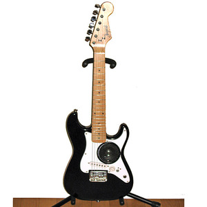 Jagard(ジャガード) アンプ・スピーカー内蔵 エレキギター ■ブラック ■ミニギター トラベルギター コンパクトギター [同梱不可]
