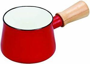 レッド パール金属 ミルクパン 10cm ホーロー レッド プチっと HB-5065