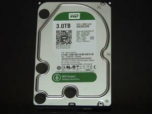 【検品済み】WD Green 3TB HDD 3.5インチ WD30EZRX (使用9229時間) 管理:e-53