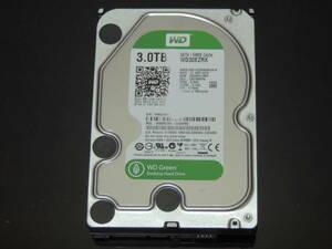 【検品済み】WD Green 3TB HDD 3.5インチ WD30EZRX (使用10447時間) 管理:e-54