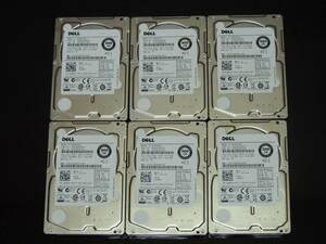 【6枚まとめ売り/検品済み】DELL HDD 300GB 2.5インチ SAS AL13SXB300N 管理:b-09
