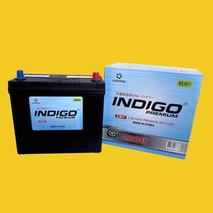 【インディゴバッテリー】75B24L ステージア ('98~07) GH-M35 互換:46B24L,60B24L 充電制御車対応 新品 即納 保証付