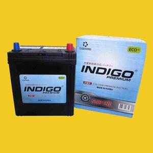 【インディゴバッテリー】55B19L eKスペースカスタム ('14~) DBA-B11A 互換:44B19L,55B19L 充電制御車対応 新品 即納 保証付