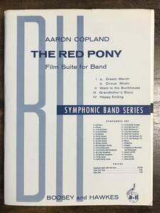 送料無料/吹奏楽楽譜/アーロン・コープランド:組曲「赤い子馬」/試聴可/スコア・パート譜セット/赤毛のポニー