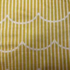 生地 ダブルガーゼ 黄色なみなみ