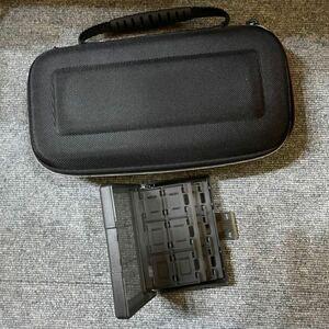 SWITCH ハード収納ケース と カード用収納ケース  24枚 大容量 半透明収納ボックス