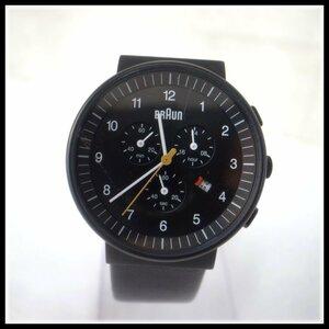9168T BRAUN ブラウン クォーツ 腕時計 BN0035 クロノグラフ ブラック