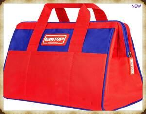 【新品】EMTOP ツールバッグ 工具用道具袋 工具バッグ 工具バッグ 大口収納 防水 赤いツールバッグ 幅35cm ETBG18131