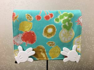 ●ハンドメイド●フルーツ*果物 移動ポケット クリップつき ターコイズ