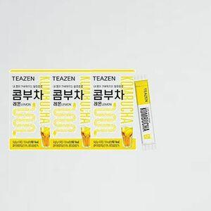 好評 新品 コンブチャ(レモン)ボトルなし TEAZEN Y-CL おまけ Kombucha Lemon 5g x 30stさわやかな果物の炭酸水の味! おいしい!